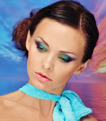 Makijaż mineralny - Zachód słońca nad morzem