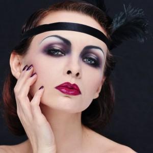 Sylwestrowy Retro Glamour - twarz